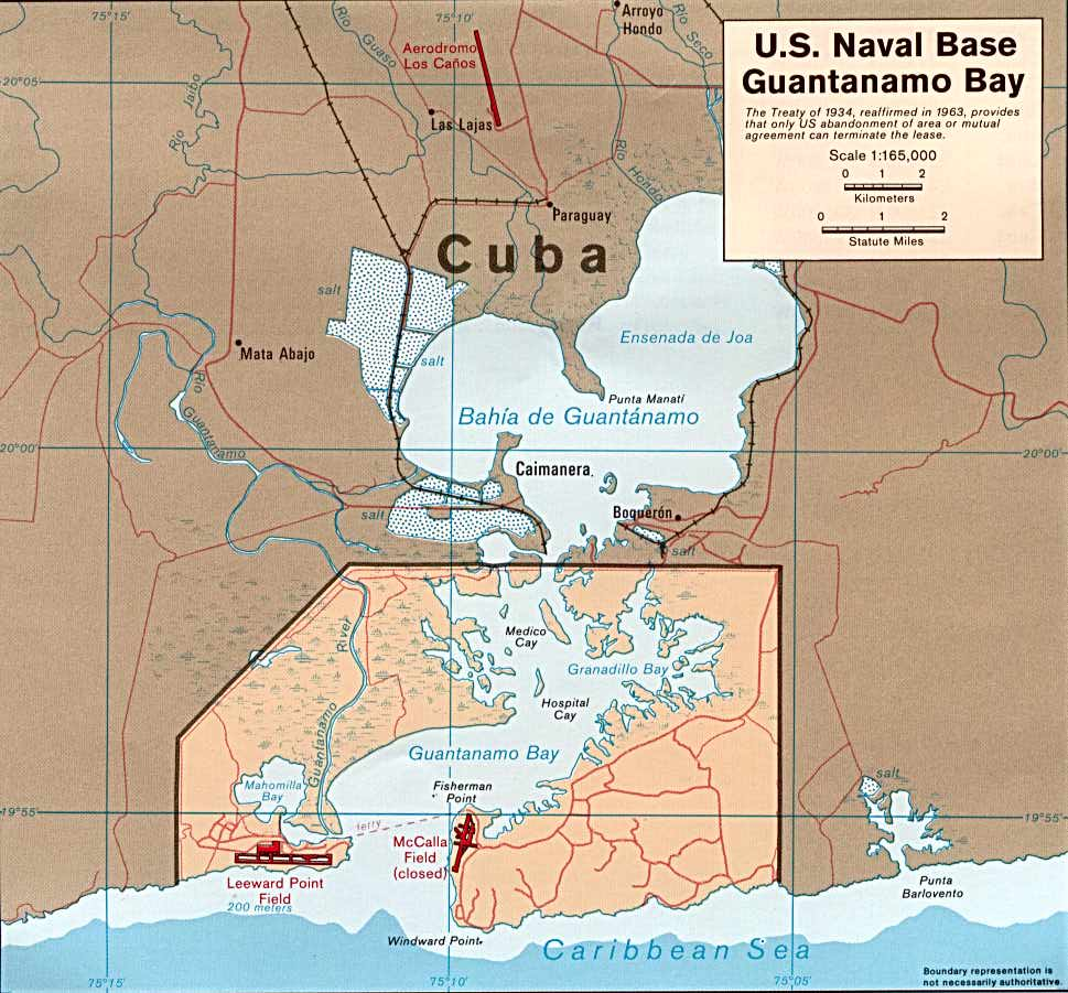 Map Of Cuba - Cuba and us map