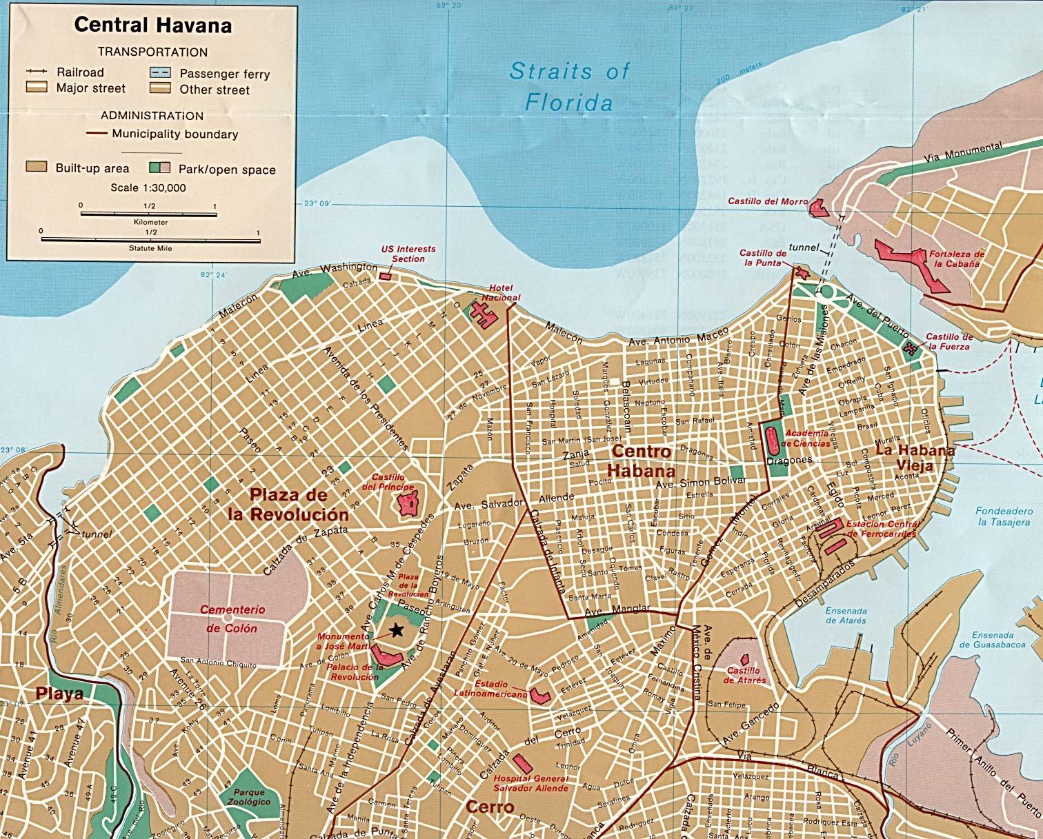Cuba Maps - Perry-Castañeda Map Collection - UT Library Online HAVANA MAP