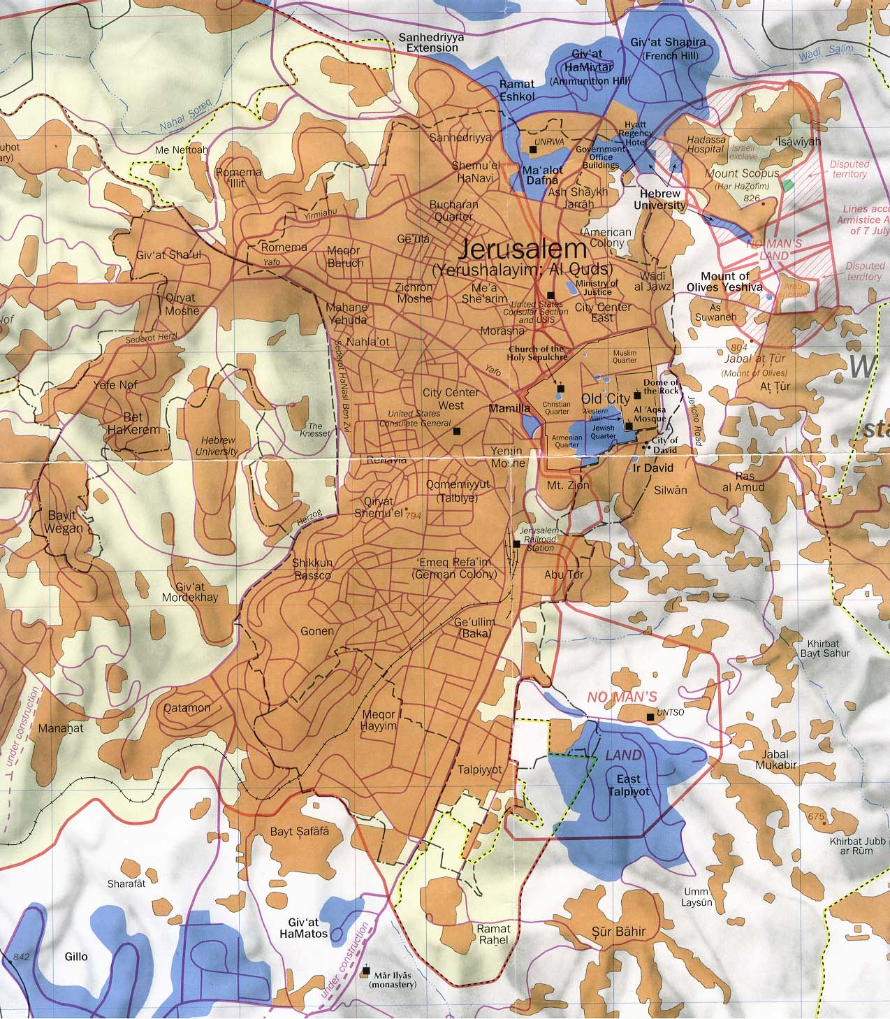 Jerusalem Center Of The World Map.Israel Maps Perry Castaneda Map Collection Ut Library Online