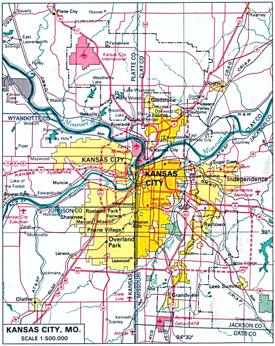 kansas city missouri and kansas . kansas maps  perrycastañeda map collection  ut library online