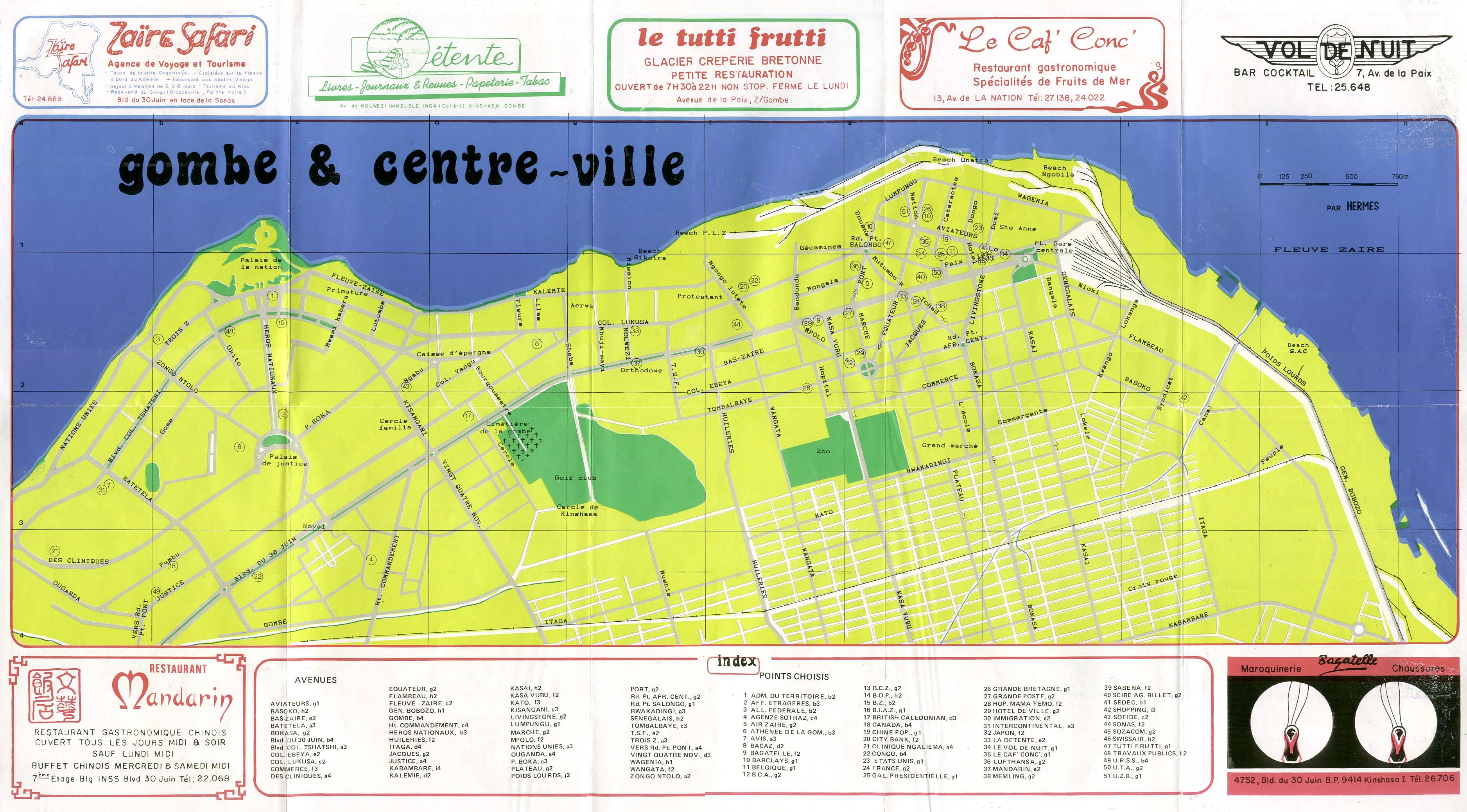 Kinshasa Map | Maps Kinshasa Map
