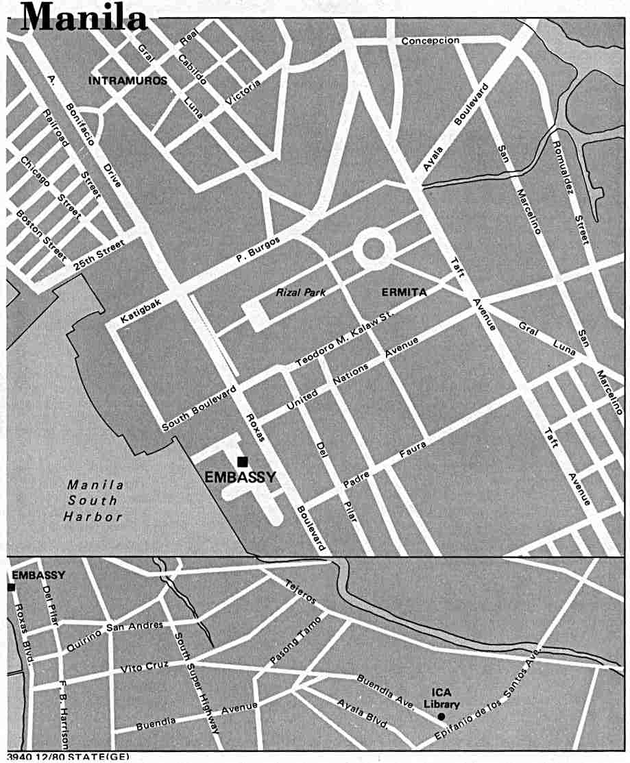 Philippines Maps PerryCastañeda Map Collection UT Library Online - Us embassy manila address map