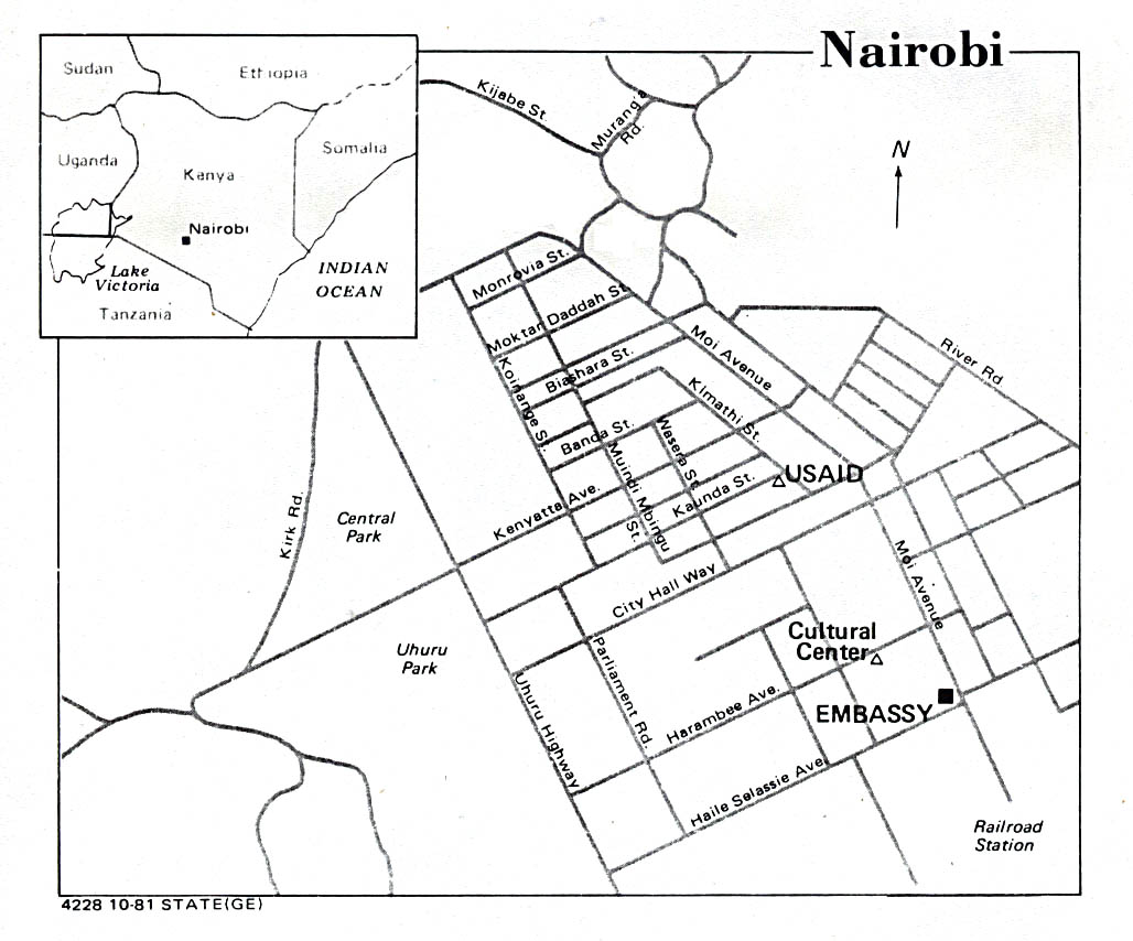 Kenya Maps Map Collection UT - Us embassy location map