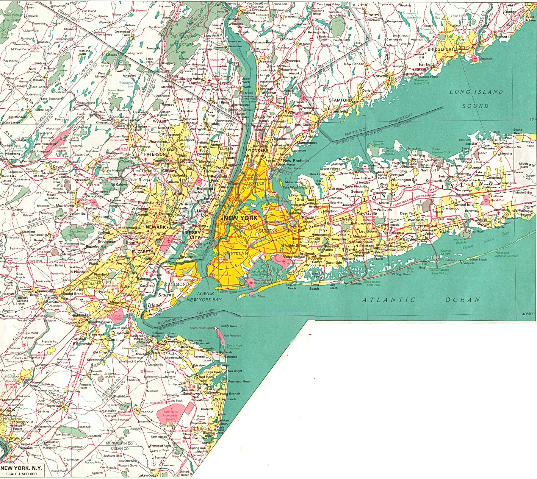 New York City Area Map New York Maps   Perry Castañeda Map Collection   UT Library Online New York City Area Map