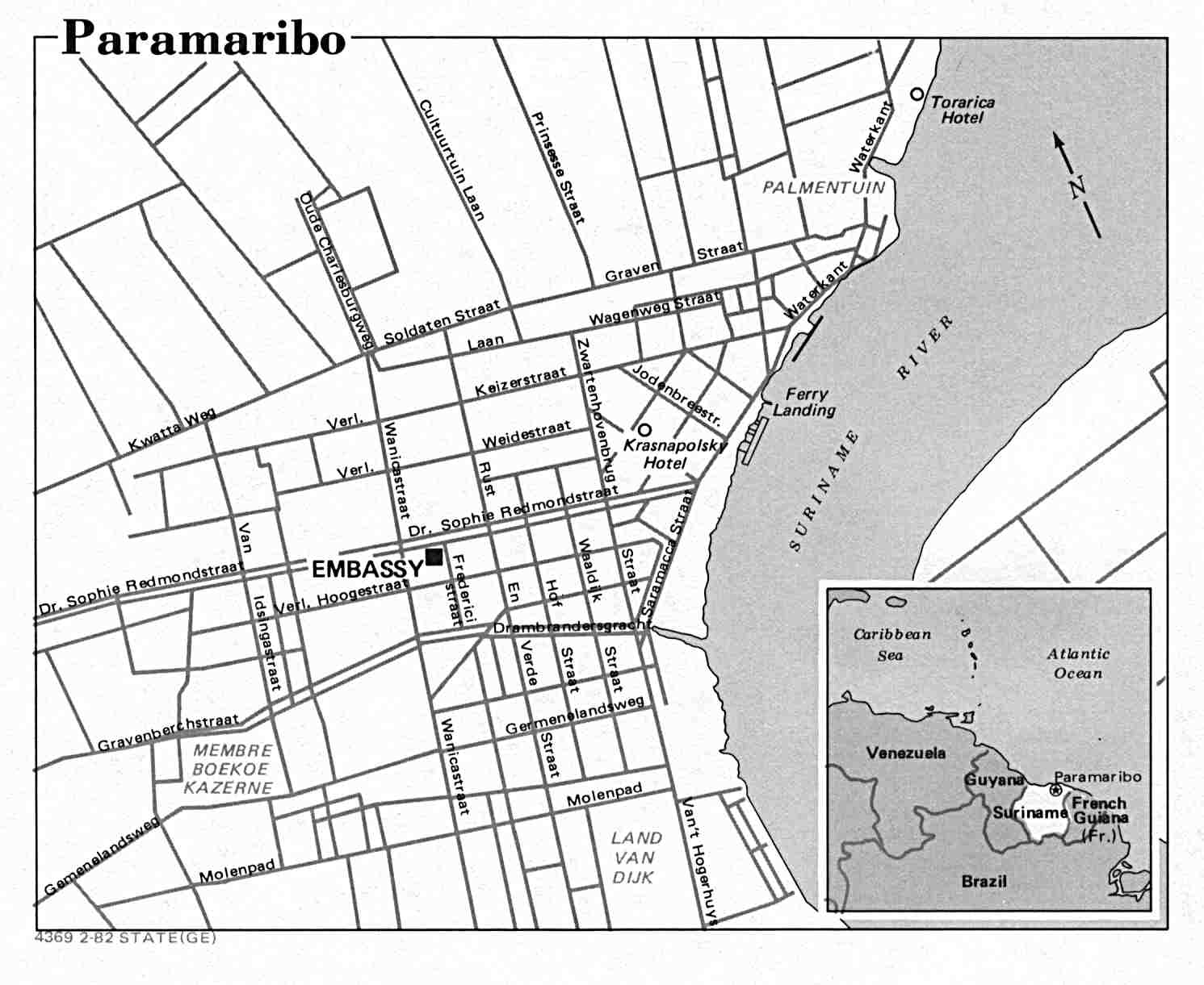 Suriname Maps PerryCastañeda Map Collection UT Library Online - paramaribo map