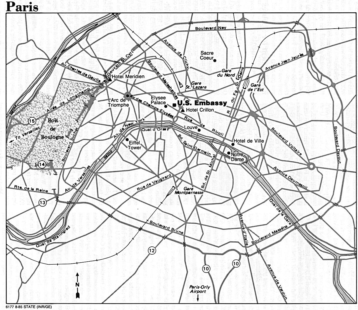France Maps PerryCastañeda Map Collection UT Library Online - Paris road map