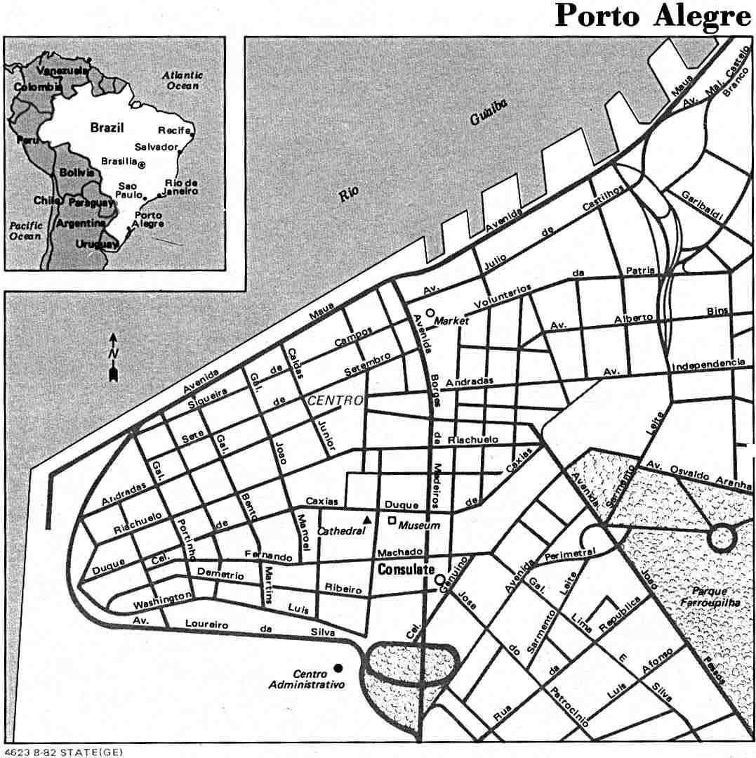 Stadsplattegrond Porto Alegre