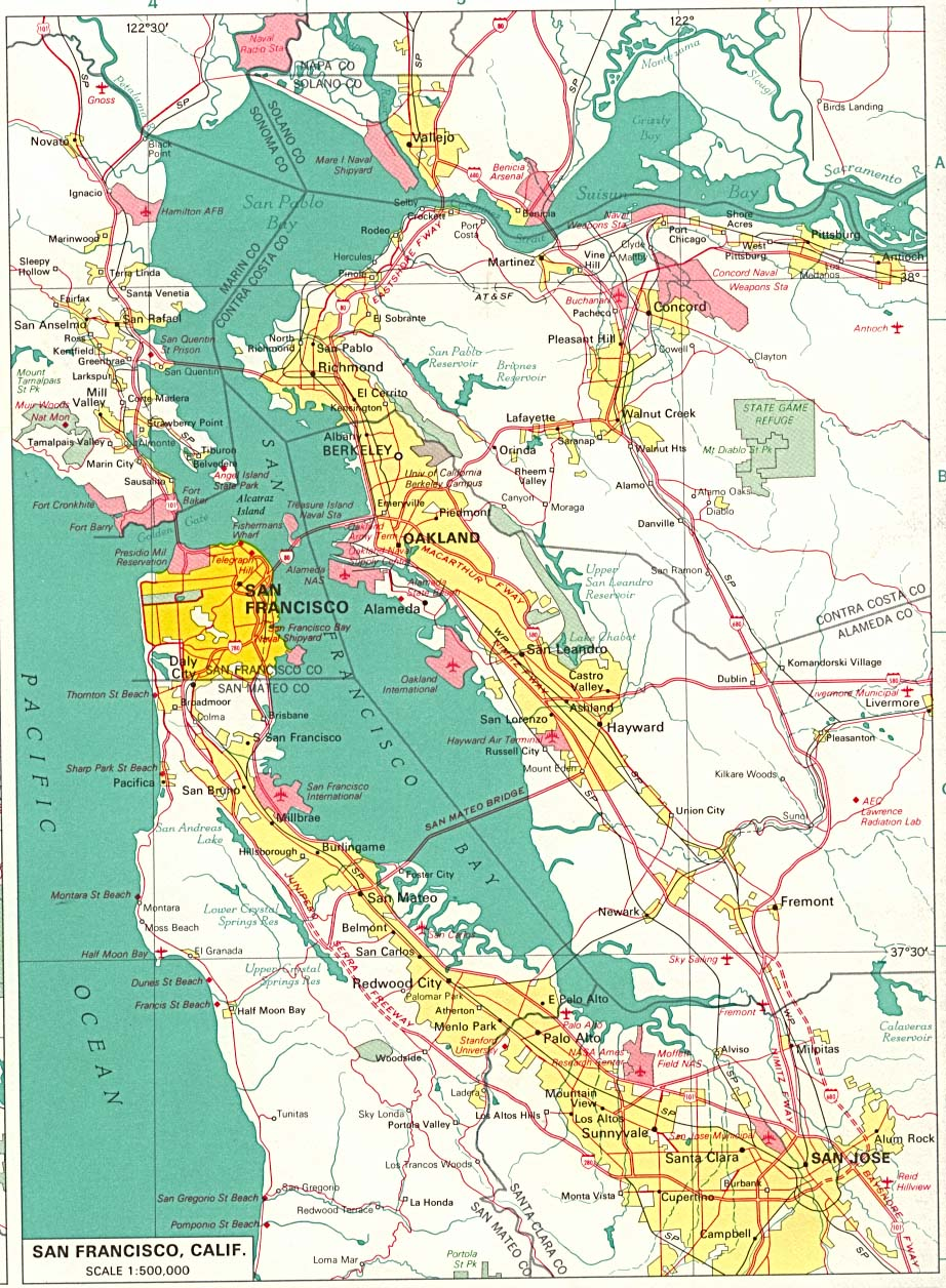 S F Bay Area Check out our freeway map selection for the very best in unique or custom, handmade pieces from our shops. don s notes
