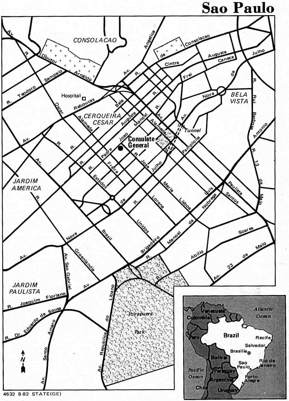 Stadsplattegrond São Paulo