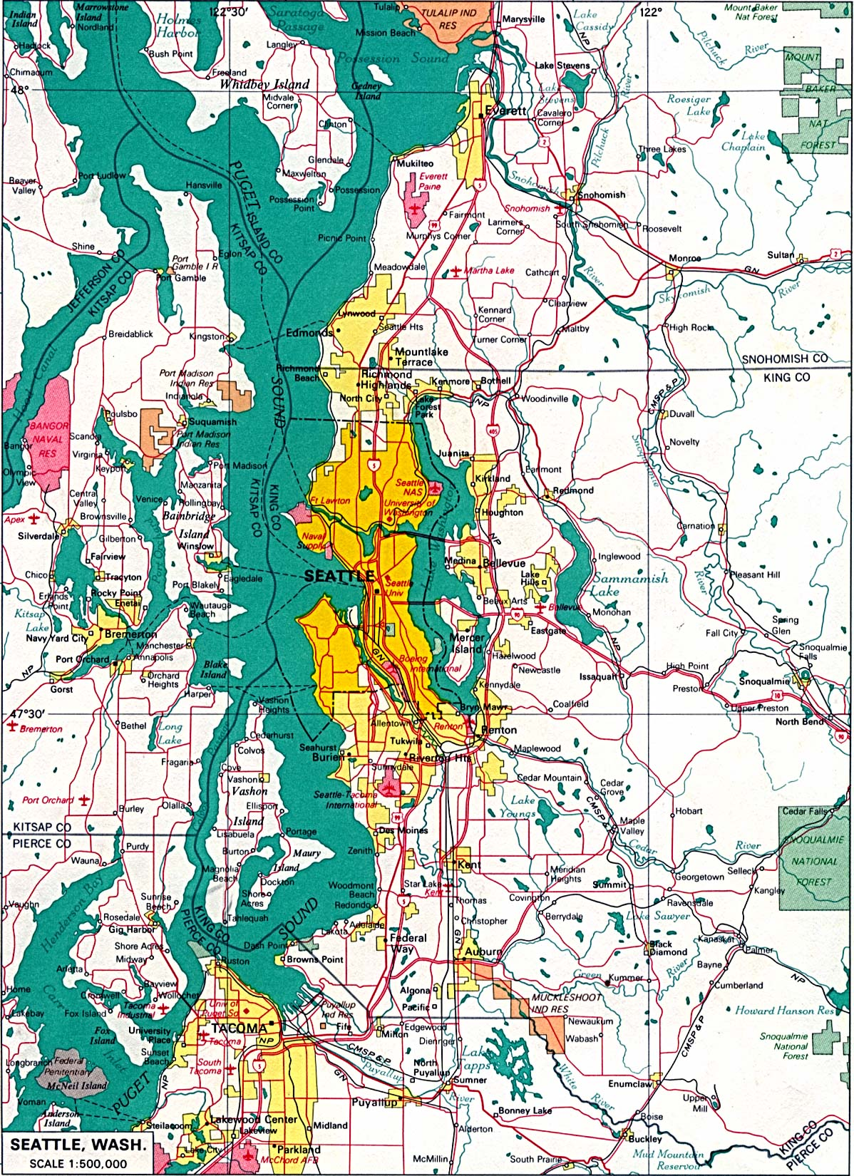Washington State Map Seattle.Washington Maps Perry Castaneda Map Collection Ut Library Online