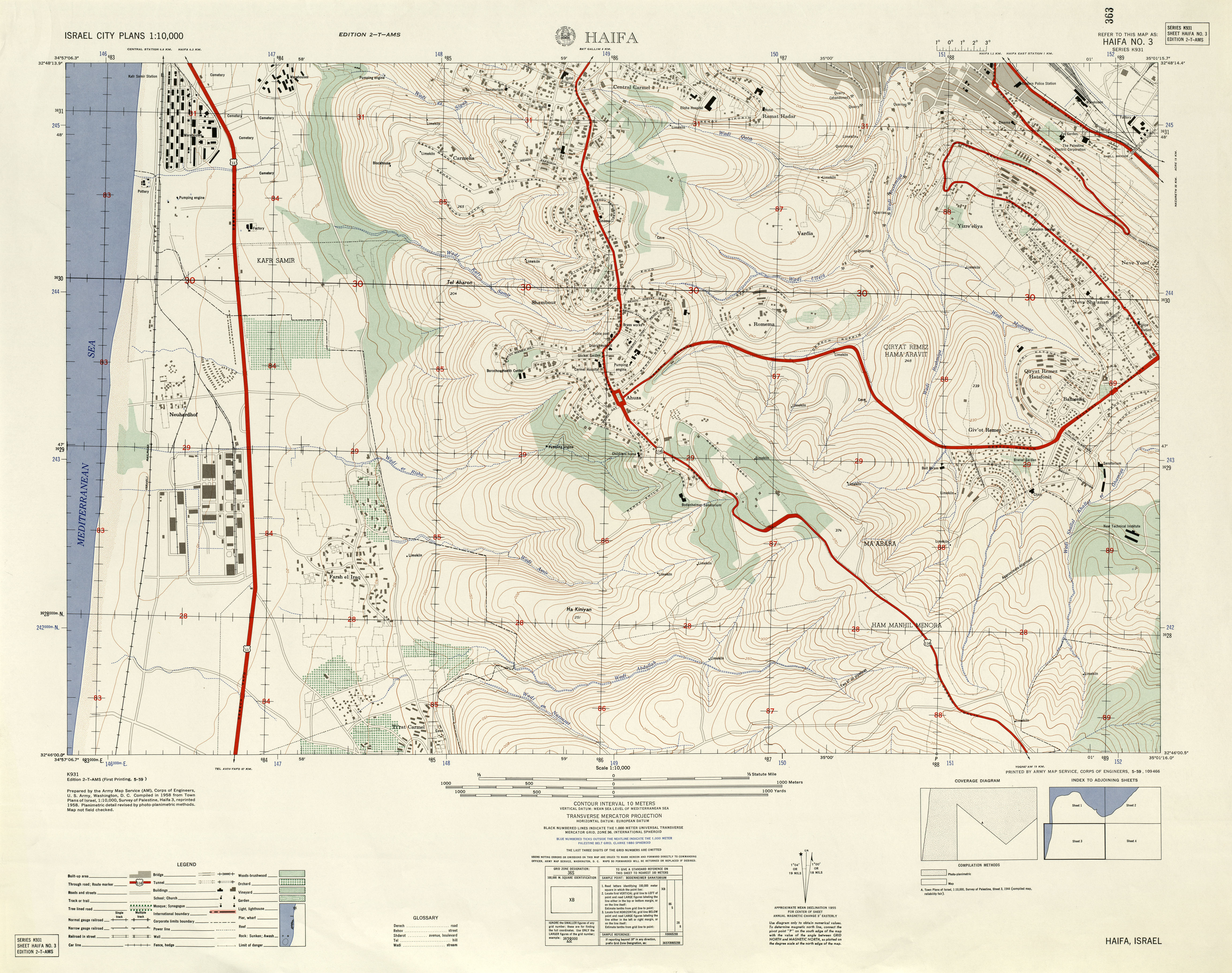 Israel Maps PerryCastañeda Map Collection UT Library Online - Us army strip map
