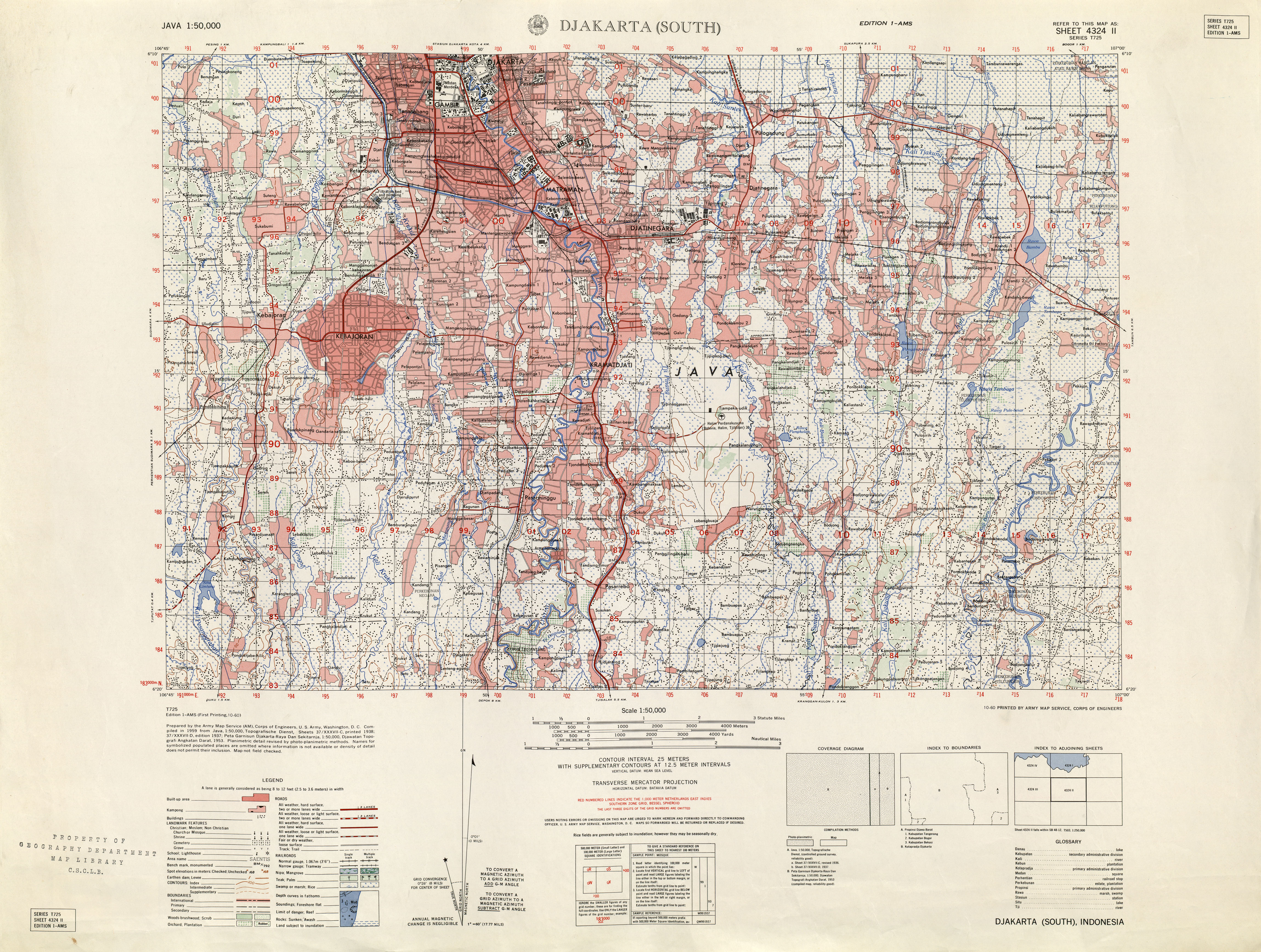 Indonesia Maps PerryCastañeda Map Collection UT Library Online - Service map of us