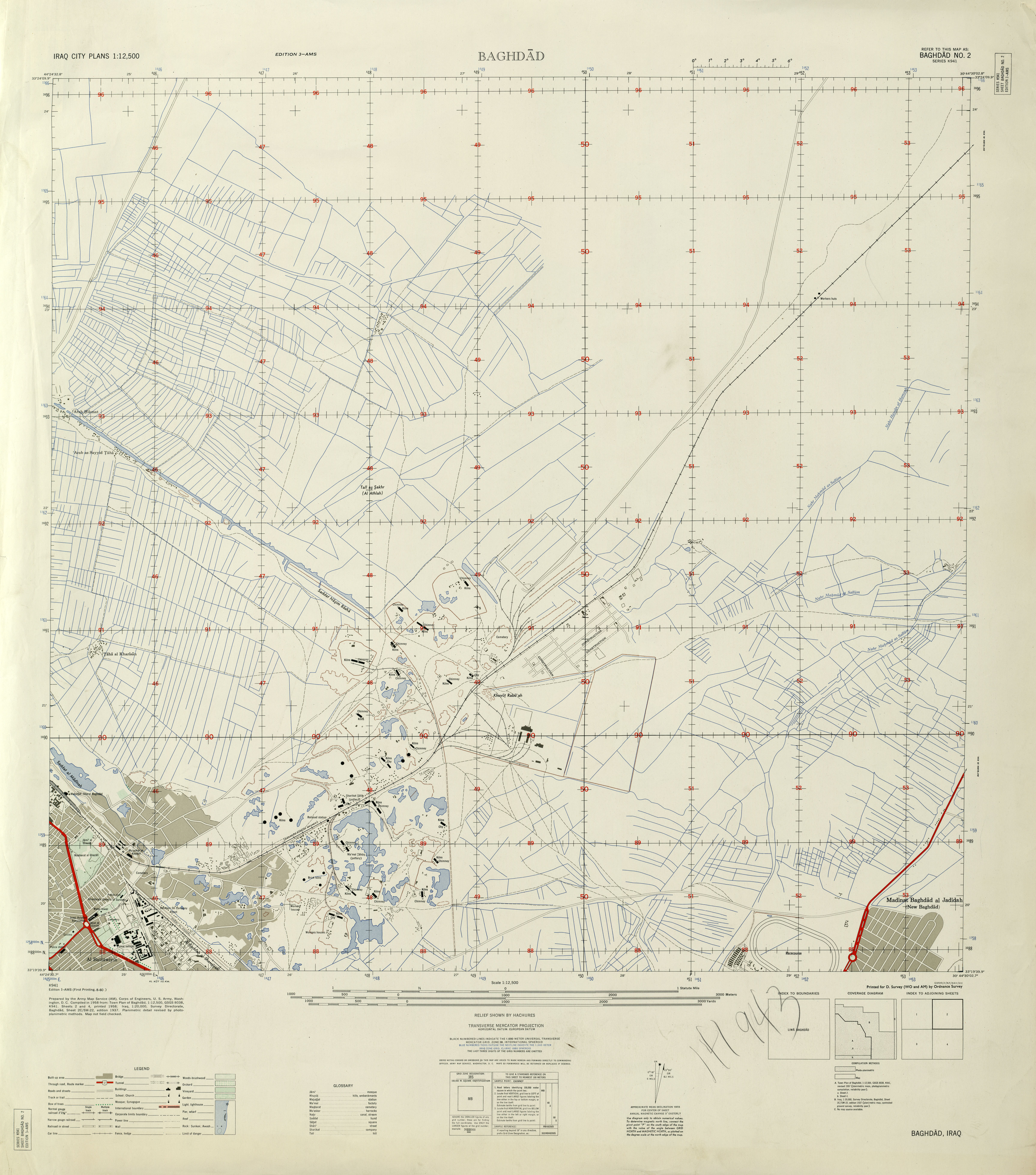 2 1 12 500 Edition 3 Ams Series K941 U S Army Map Service 1958 4 4mb