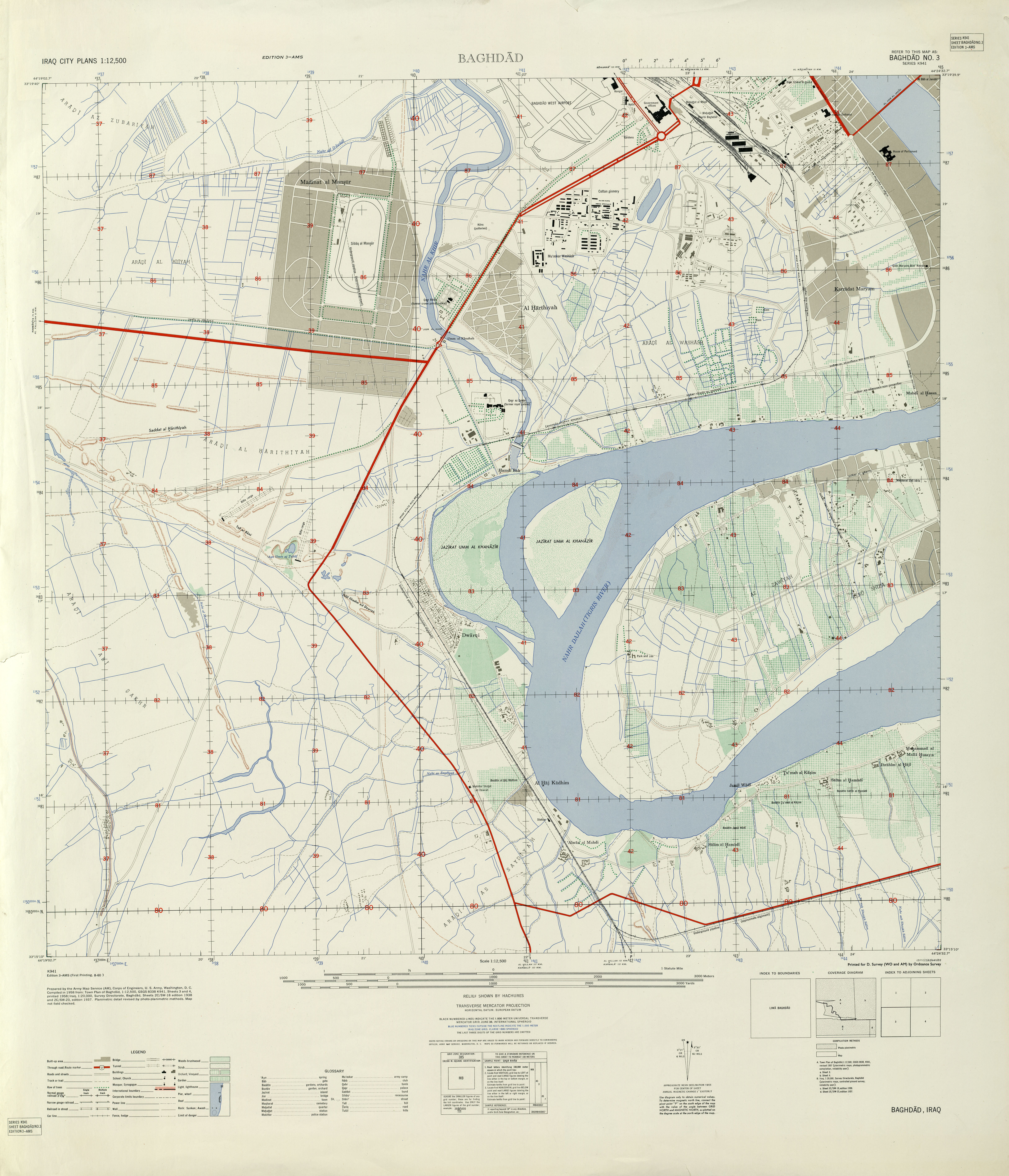 Iraq Maps PerryCastañeda Map Collection UT Library Online - Us military installation road map