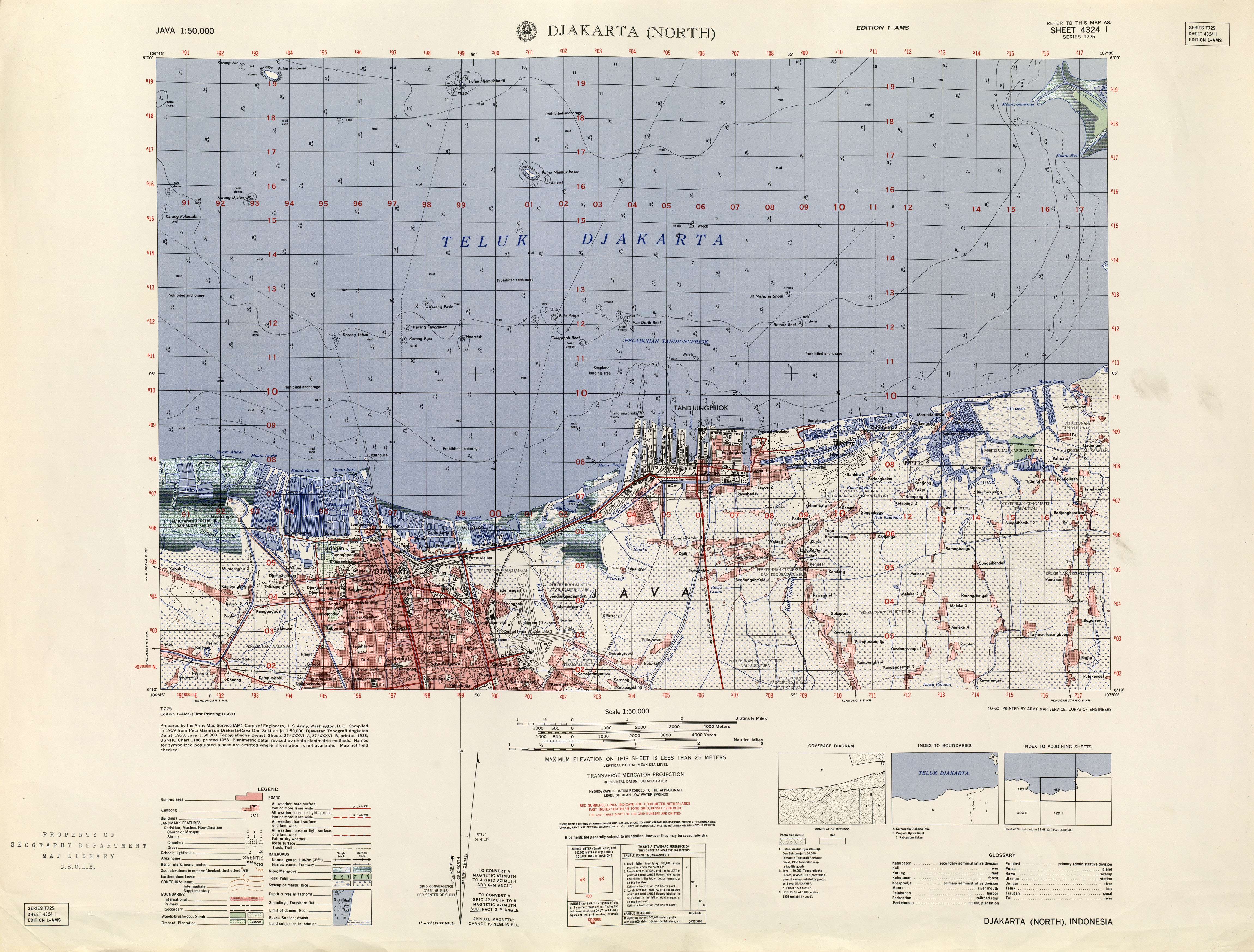 Indonesia Maps PerryCastañeda Map Collection UT Library Online - 1 50000 topo map us military