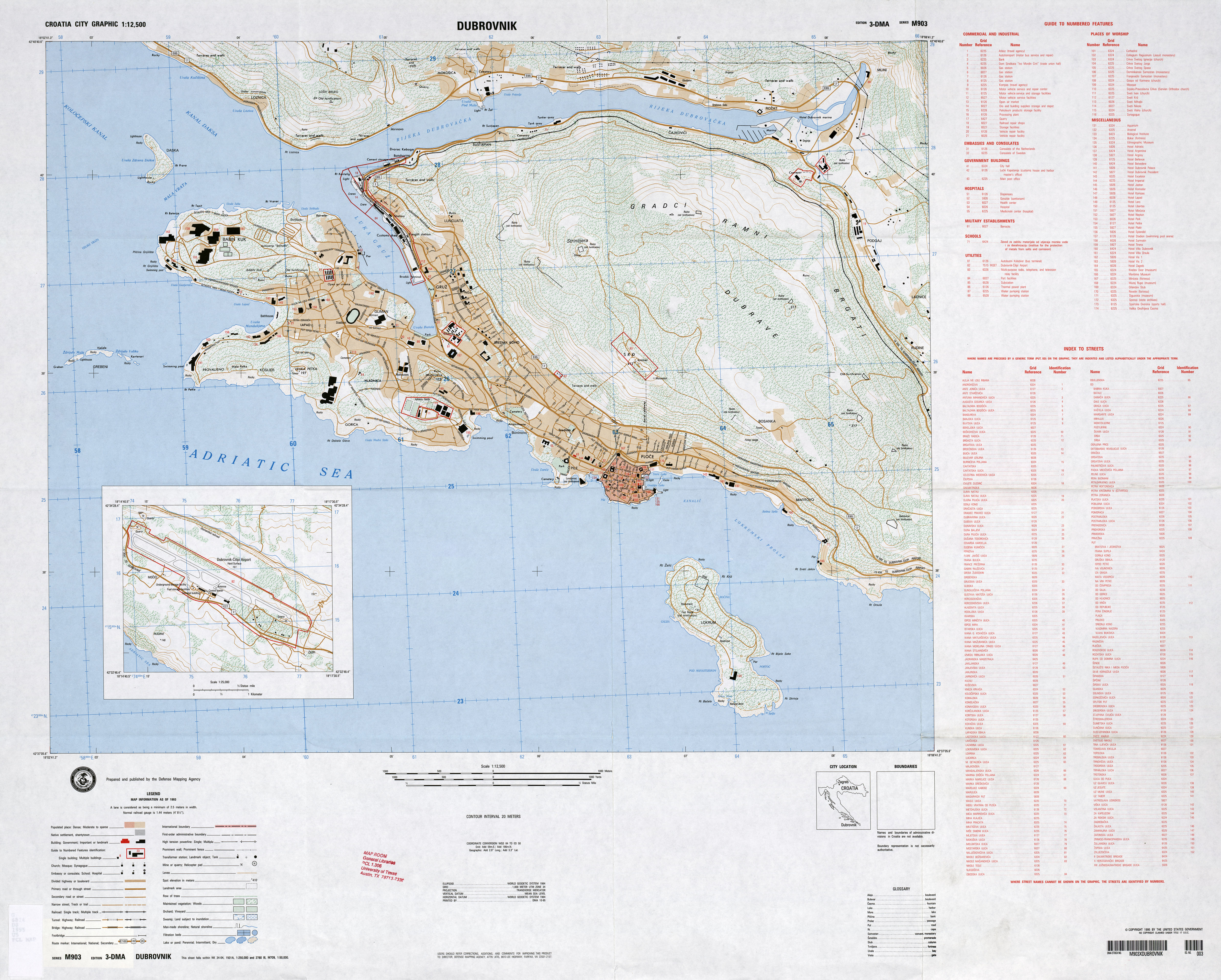 Croatia maps perry castaeda map collection ut library online croatia maps gumiabroncs Gallery
