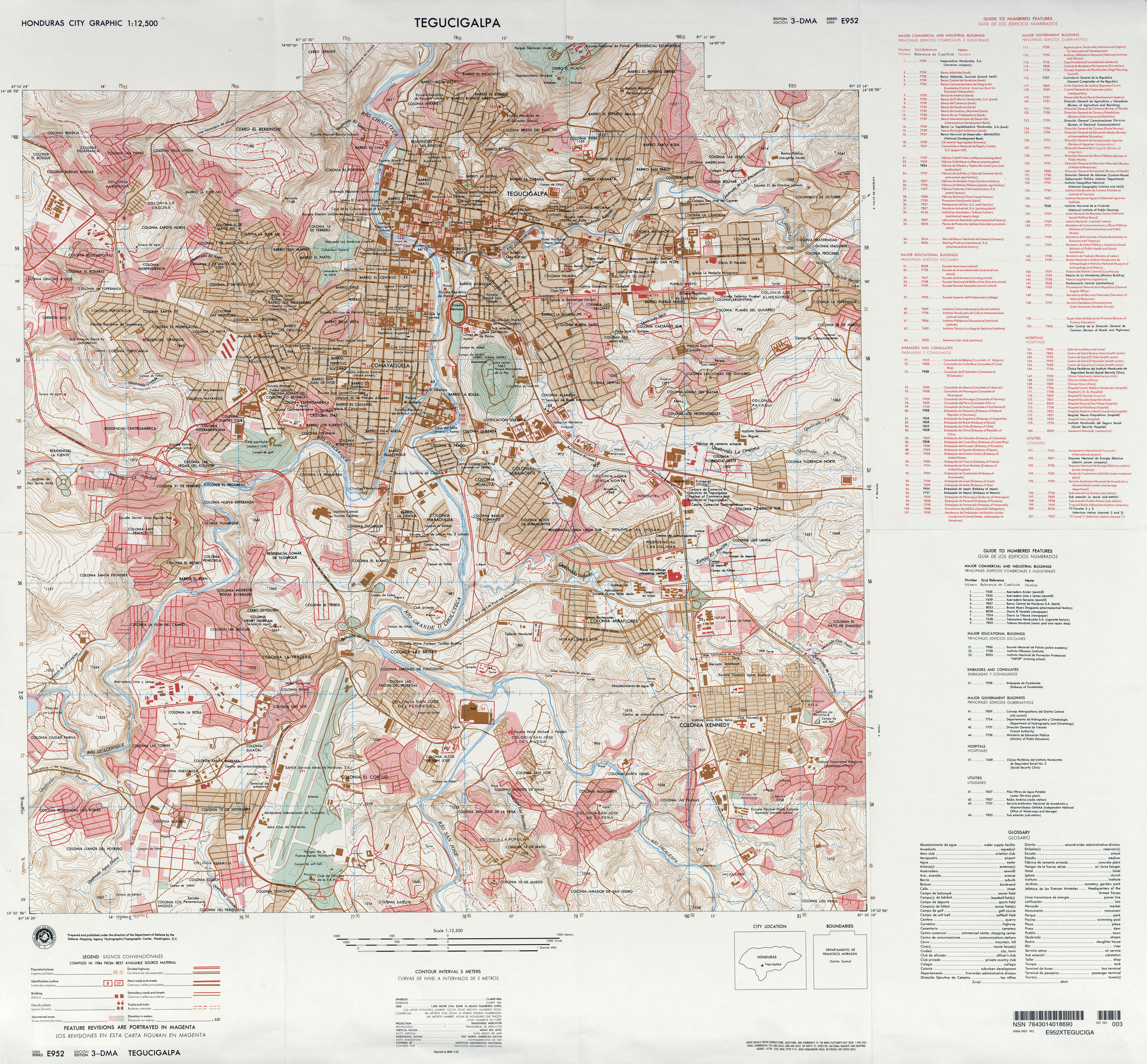 Honduras Topographic Map.Honduras Maps Perry Castaneda Map Collection Ut Library Online