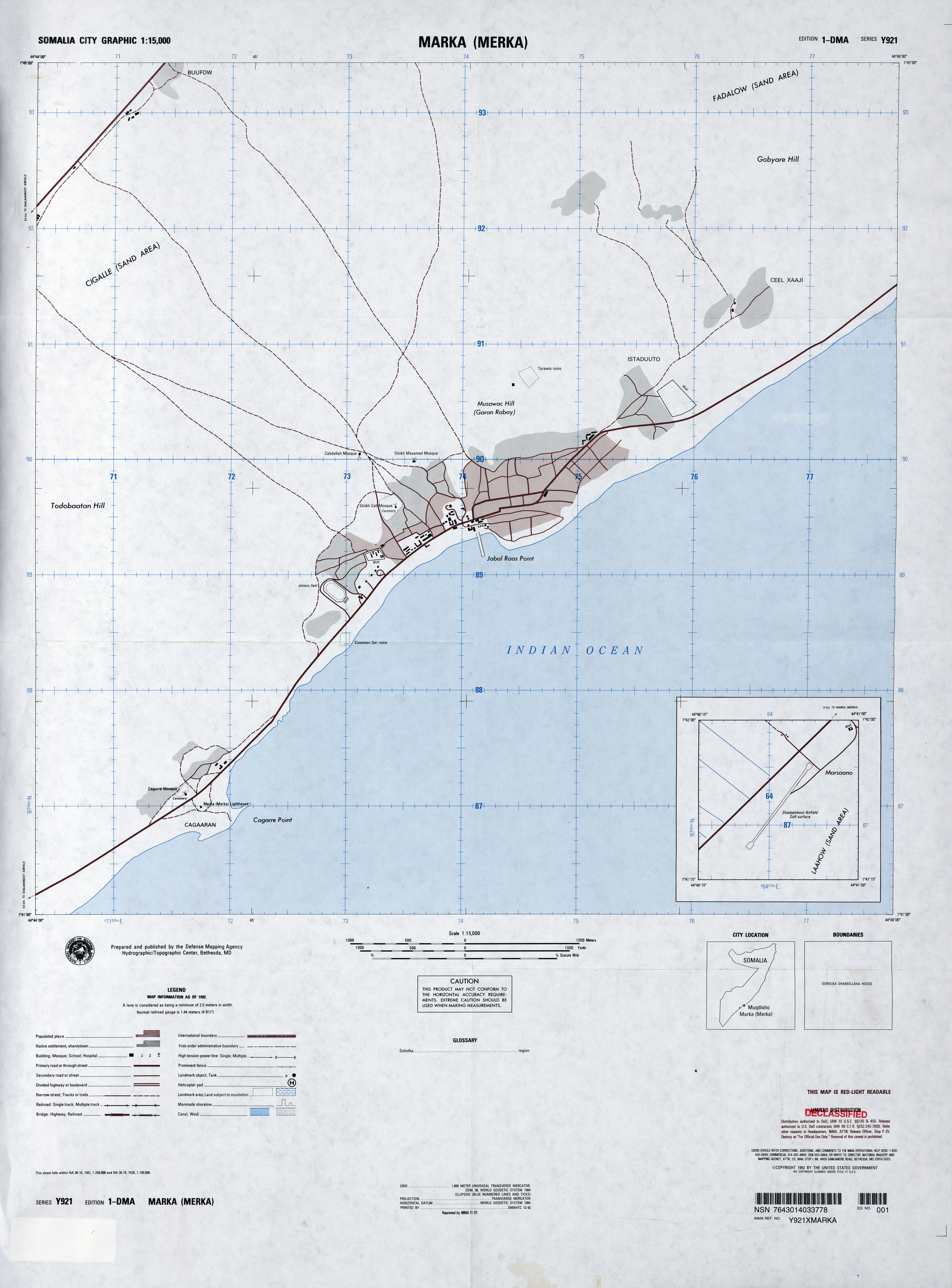 Somalia Maps PerryCastañeda Map Collection UT Library Online - Dma map us 2016
