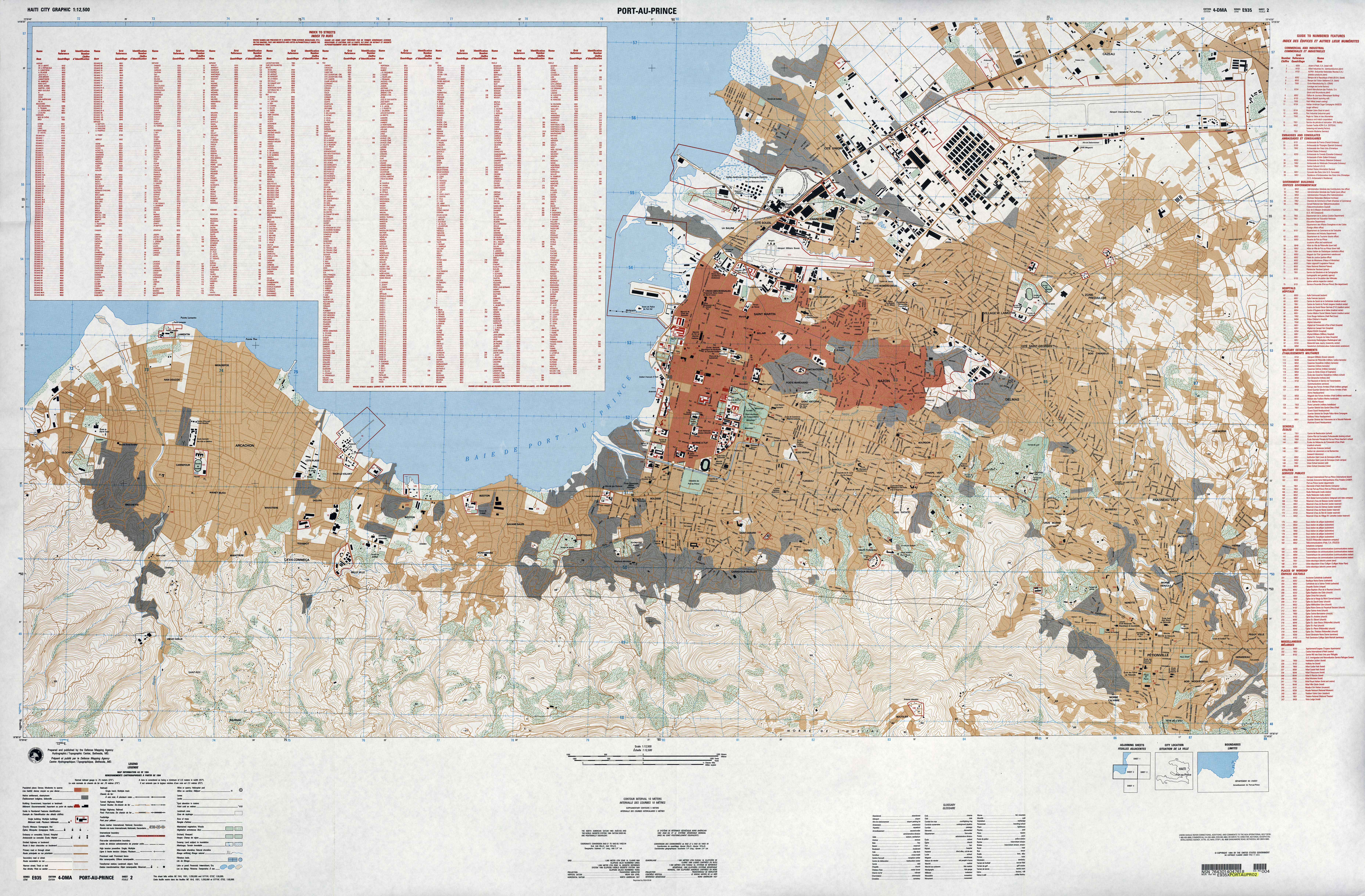 Haiti Maps PerryCastañeda Map Collection UT Library Online - Us defense mapping agency