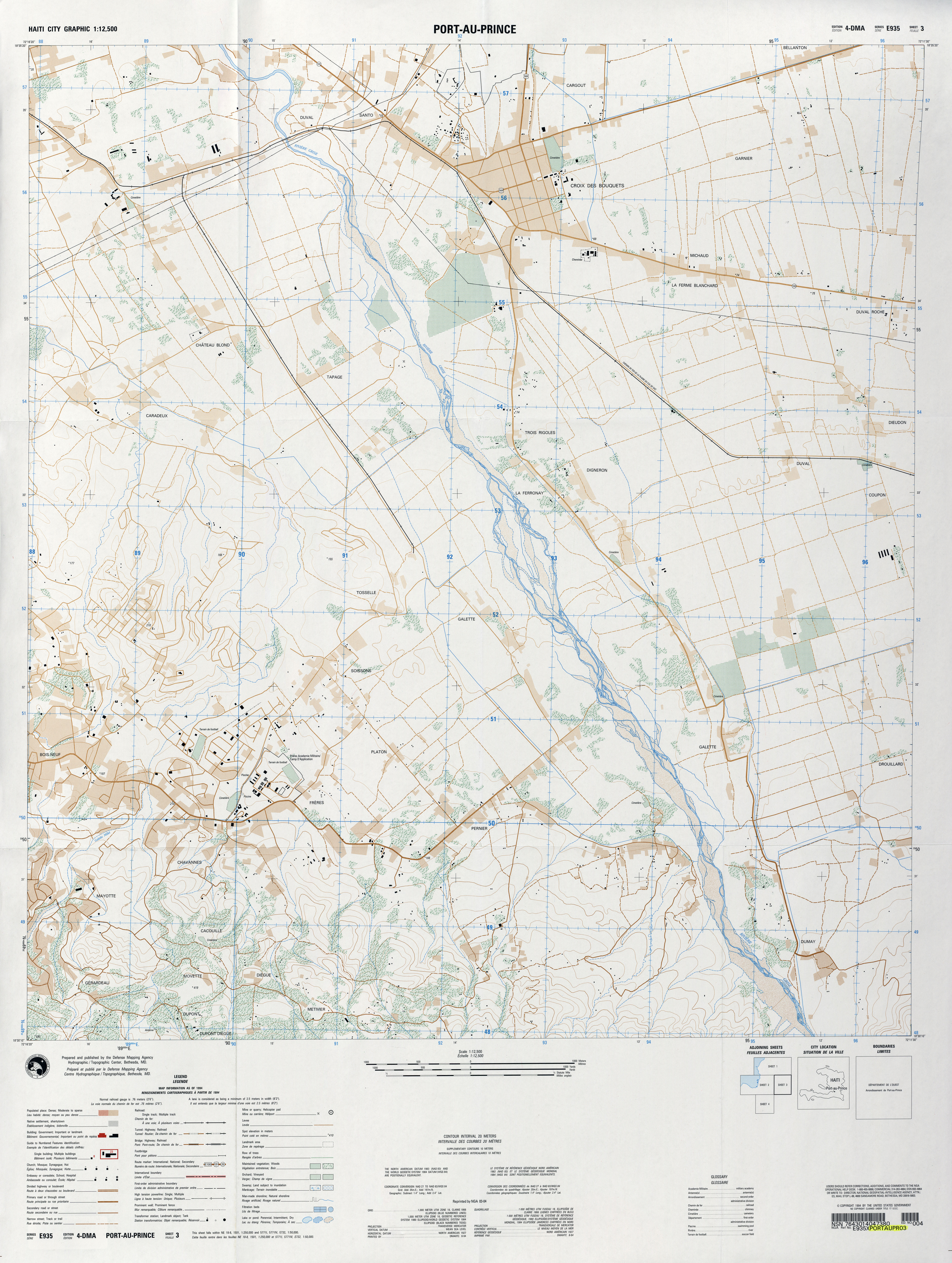 Haiti Maps PerryCastañeda Map Collection UT Library Online - 1994 us population changes map