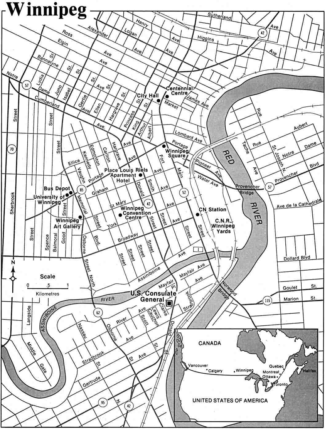 Manitoba U S Department Of State 1988 145k Topographic Maps
