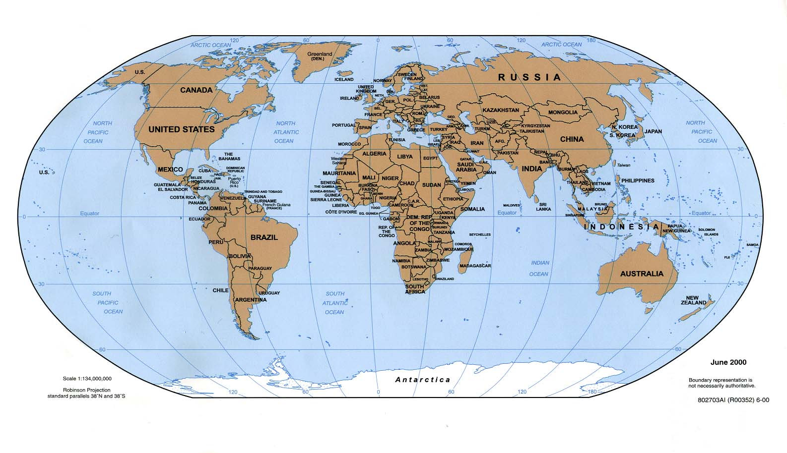 United photo: World map globe with something depth of field.