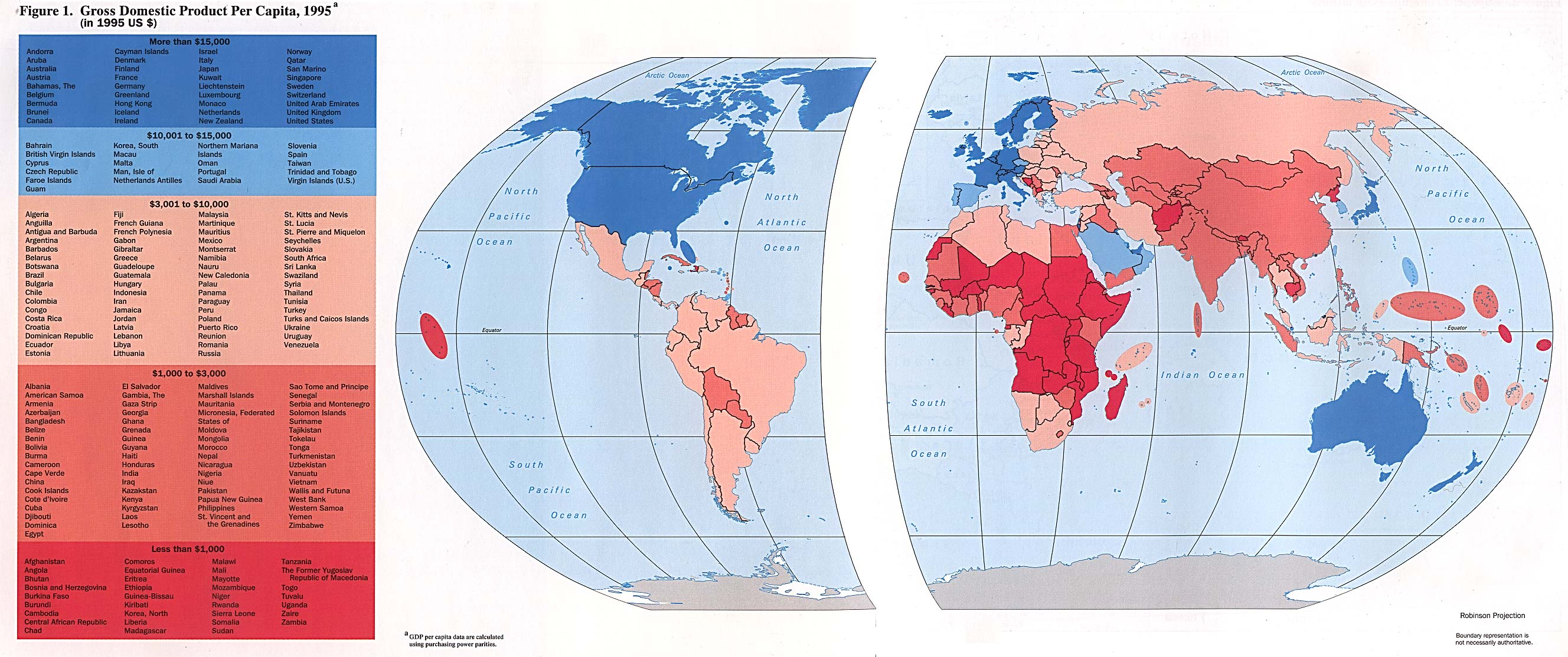 World Map GDP per Capita