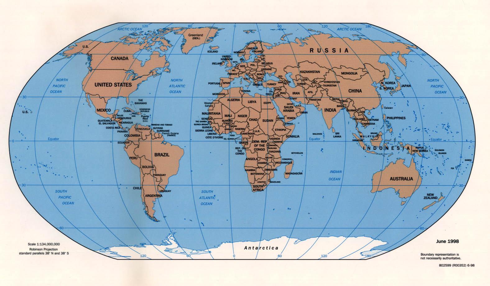 Political World Map 2008